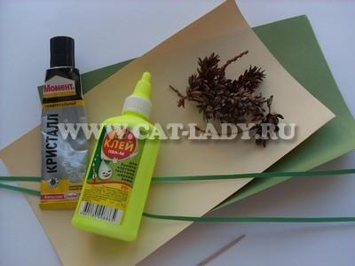 материалы для изготовления новогодней открытки