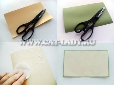 пошаговая инструкция как сделать открытку на Новый Год своими руками